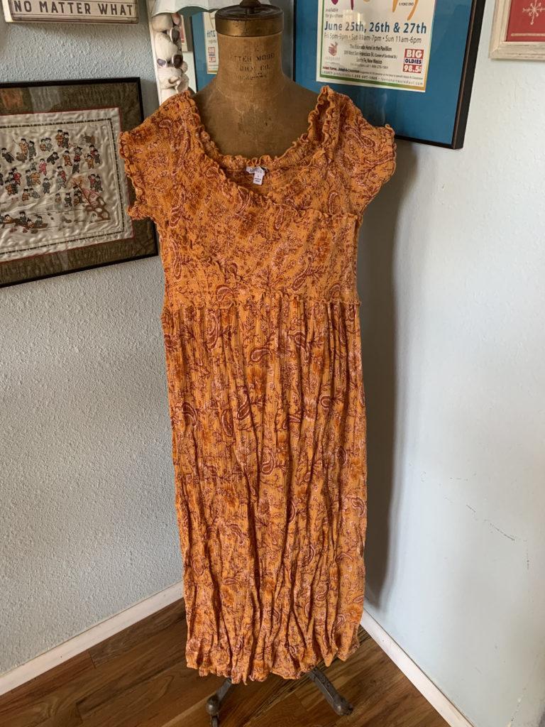Ah this Dress.  Off-the-shoulder Boho Cute.