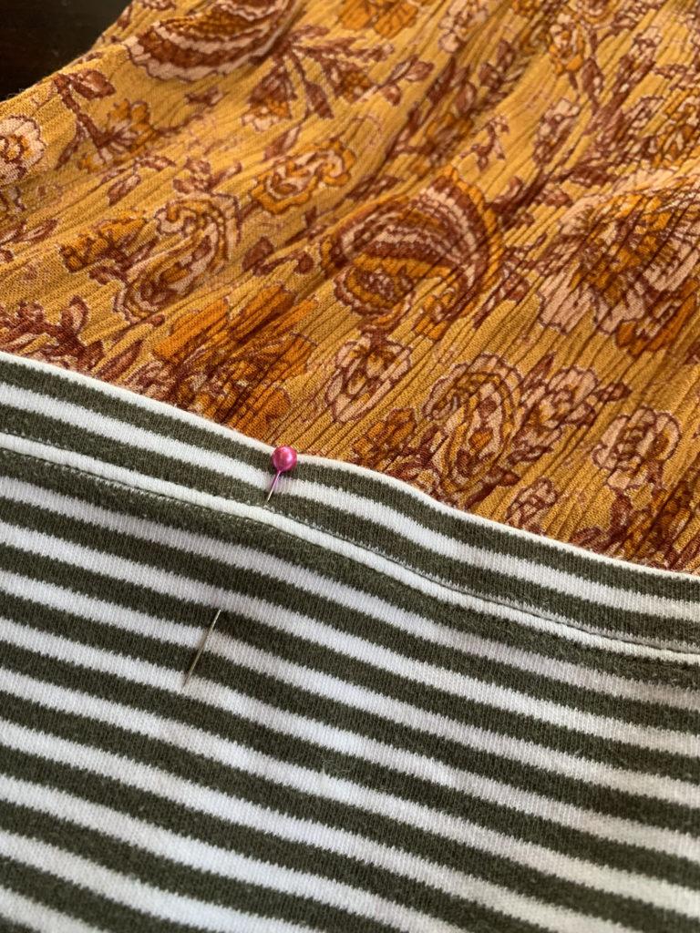 pin striped tee to boho dress