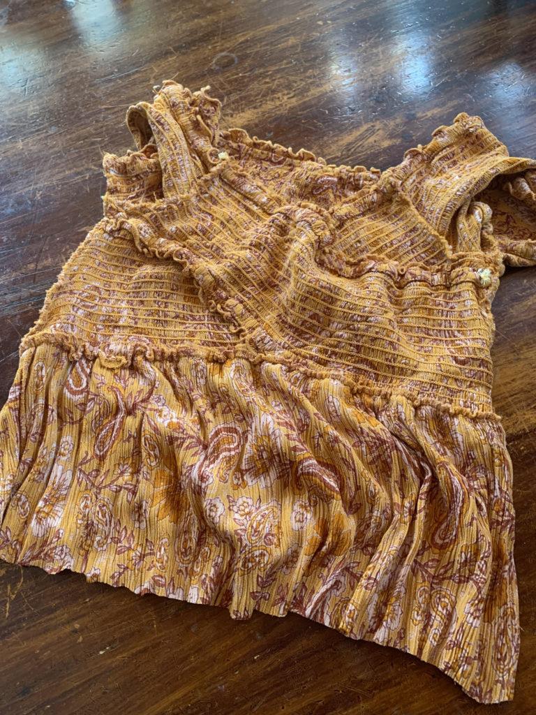 dress top cut into flirty top